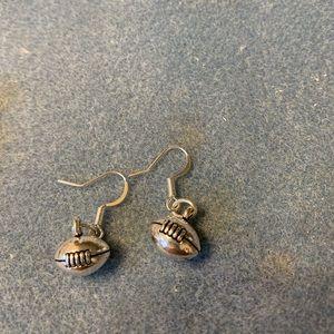 Very cute football earrings and bracelet